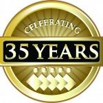 35 years seal