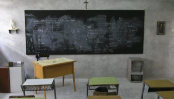 A Catholic school classroom in Argentina